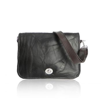 Soft Leather Cross Body Bag - Brown