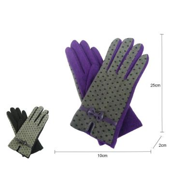 Dotted Pattern Gloves