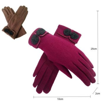 Knot Button Gloves