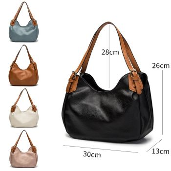 Nicole Buckle Strap Slouch Bag