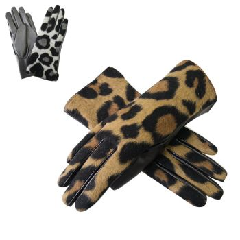 Stacey Leopard Print Boxed Gloves