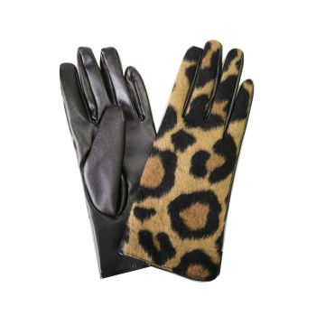 Stacey Leopard Print Boxed Gloves - Brown