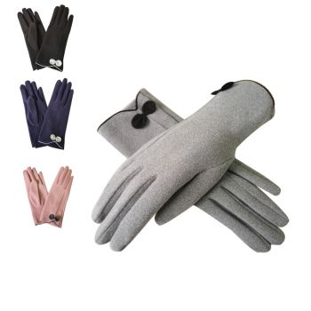 Beau Soft Touch Classy Small Bow Detail Glove