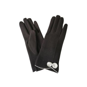 Beau Soft Touch Classy Small Bow Detail Glove - Black