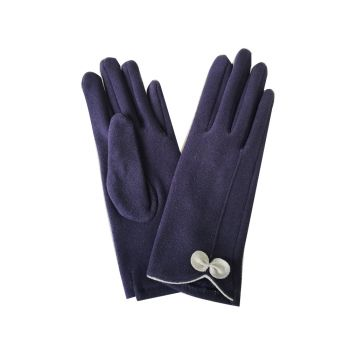 Beau Soft Touch Classy Small Bow Detail Glove - Navy Blue