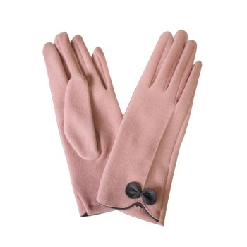 Beau Soft Touch Classy Small Bow Detail Glove - Pink