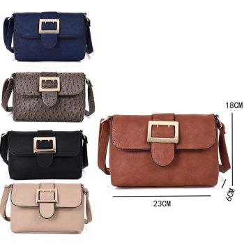 Claudia cross body bag with large buckle detail