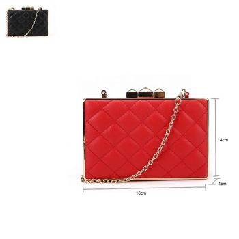 Quilted Box Clutch
