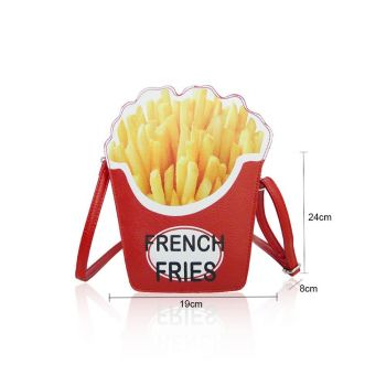 French Fries Novelty Bag - Red
