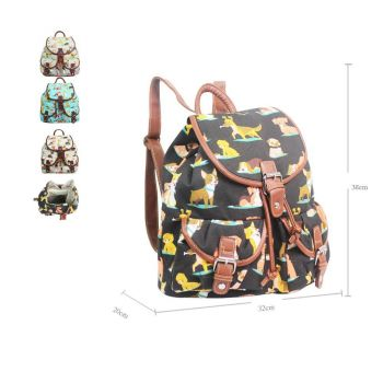 Assorted Dog Double Pocket Backpack