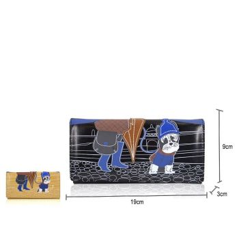 Lady With Dog Cityscape Long Purse