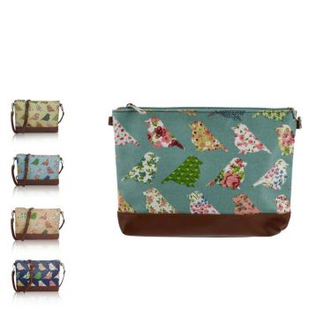 Birds and Flowers Mini Cross Body Bag