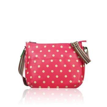 Polka Dot Multi-Purpose Bag - Fuchsia