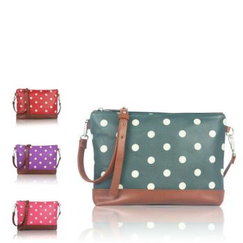 Polka Dot Canvas Mini Cross Body Bag