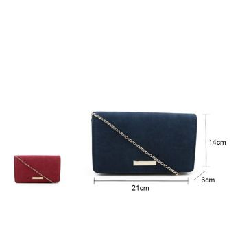 Smooth faux suede clutch