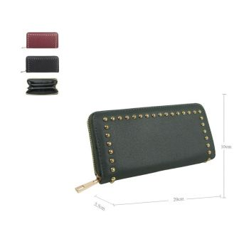 Studded Long Zip Purse
