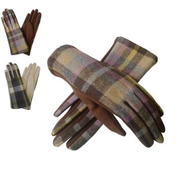 Plain Tartan Winter Gloves