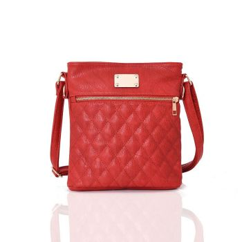 Maggie Quilted Cross Body Bag  - Red