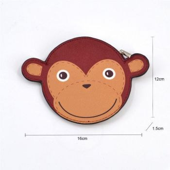 Monkey Coin Purse - Brown