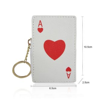 Ace Of Spades Coin Purse - White