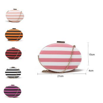 Striped Oval Evening Bags