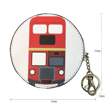 Bus Coin Purse - Red