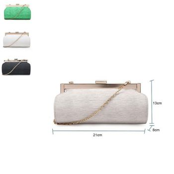 Textured Rounded Clutch Bag