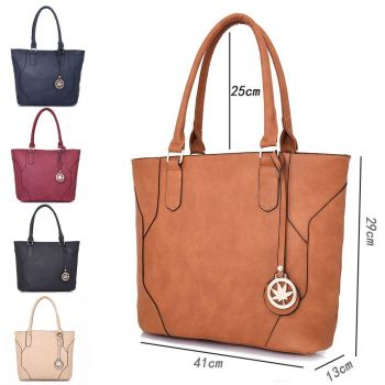 Lila Shopper Bag With Charm