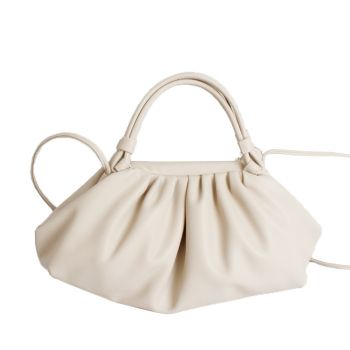 Fifi metal hinge shoulder bag - Cream