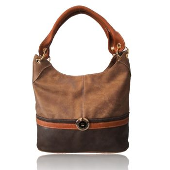 Tulisa Jewel Embelish Tote Bag - Khaki