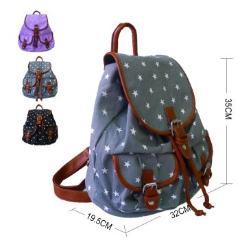 Small Stars Double Pocket Backpack