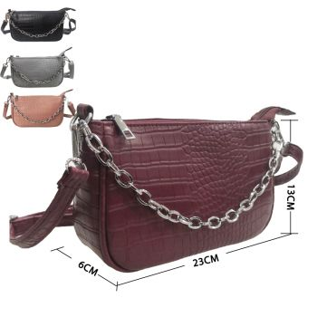 Stacey Metal Chain Shoulder Bag