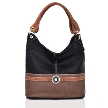 Tulisa Jewel Embelish Tote Bag - Black