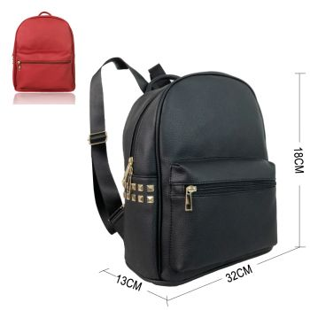 Kristina Fashion Backpack With Stud Detail