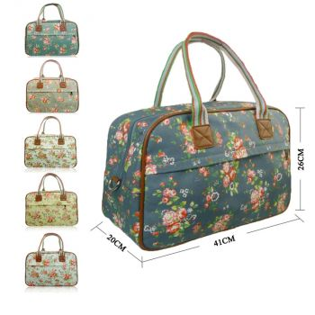 Matte Canvas Flowers Floral Weekend Maternity Travel Bag