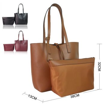 Clara two in one shoulder bag with interior bag