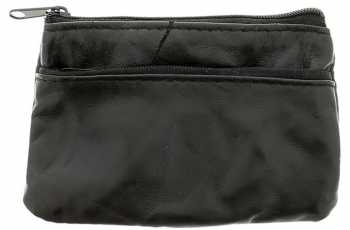 Real Leather Small Zip Close Coin Purse