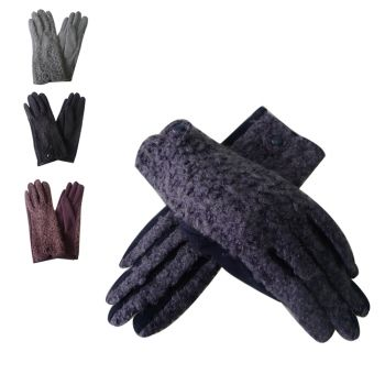Amie teddy fur gloves
