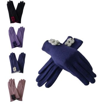 Lillie bow cuff glove
