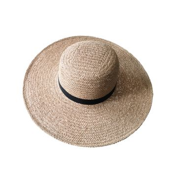 Women's Straw Hat With Black Band