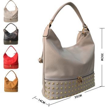 Adette Stud Slouchy Shopper Bag
