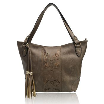 Miai Double Tassel Shopper Bag - Khaki