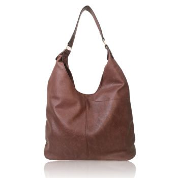 Tori V Slouch Bag - Red Brown