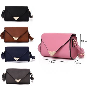 Embroidered Envelope Style Crossbody Bag