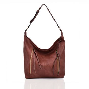 Sienna Shoulder Bag - Red Brown