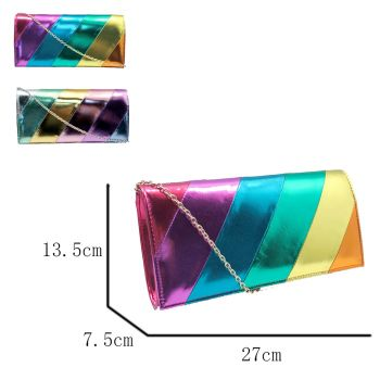 Aurora Rainbow Print Shoulder Clutch Bag